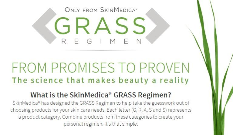 Image of SkinMedica Grass Regimen product information.